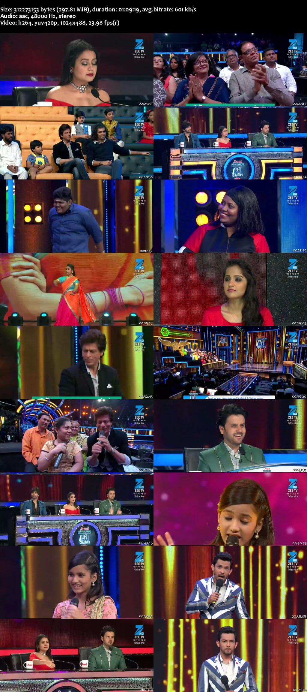 Screenshots Of Hindi Show Sa Re Ga Ma Pa Lil Champs Season 6 6th August 2017 Episode 47 300MB 480P HD