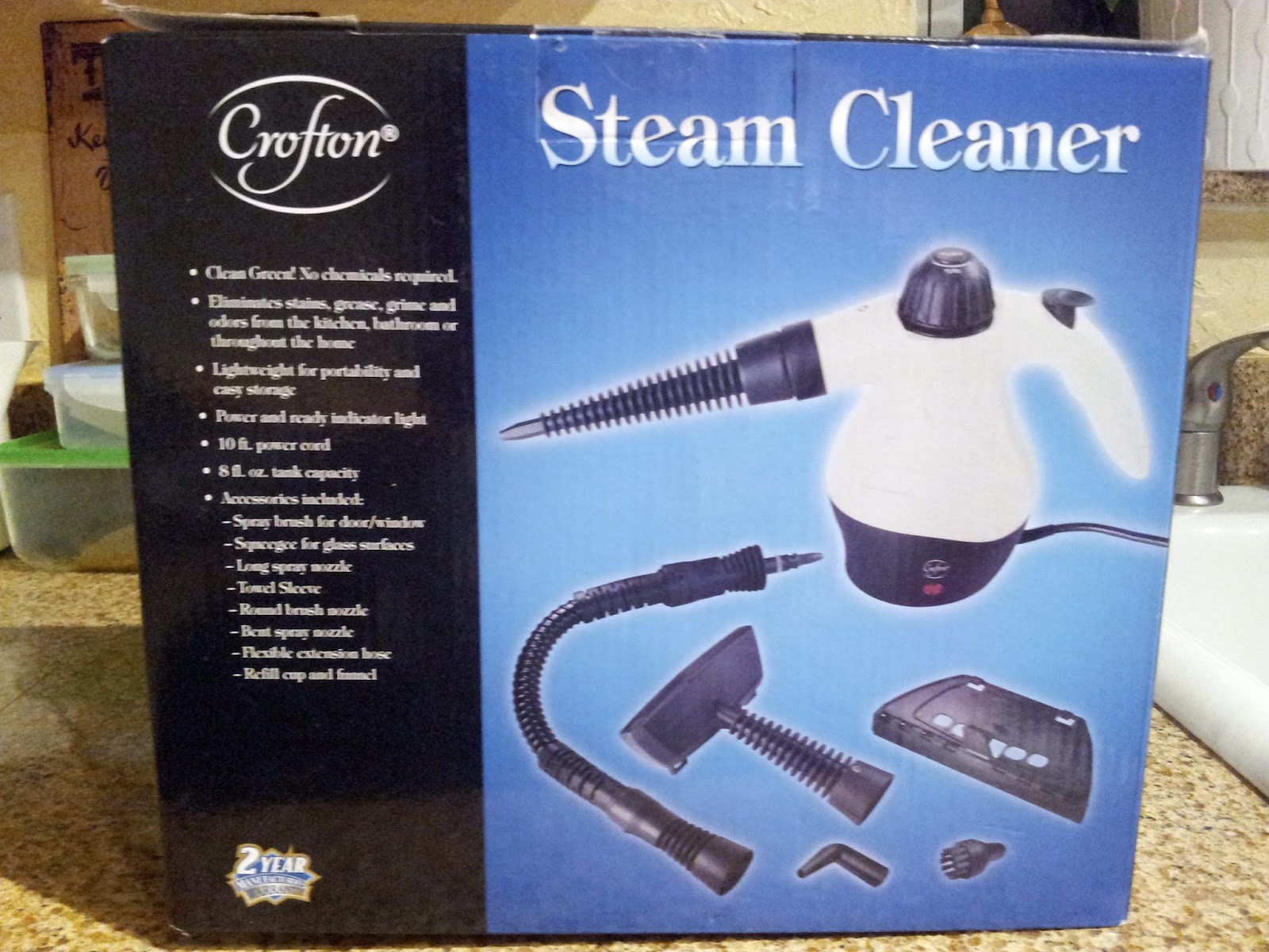Bike Run Yoga Review Of The Crofton Handheld Steam Cleaner