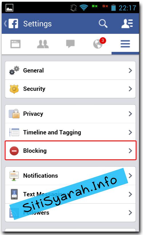Blokir Teman Facebook di Android