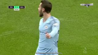 فيديو : ملخص واهداف مباراة مانشستر سيتي وبورنموث 3-1 السبت 01-12-2018 الدوري الانجليزي