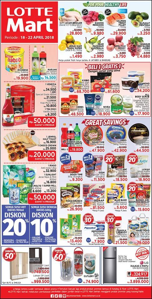 Harga Promo LOTTEMART Hypermarket Akhir Pekan 18 - 22 April 2018