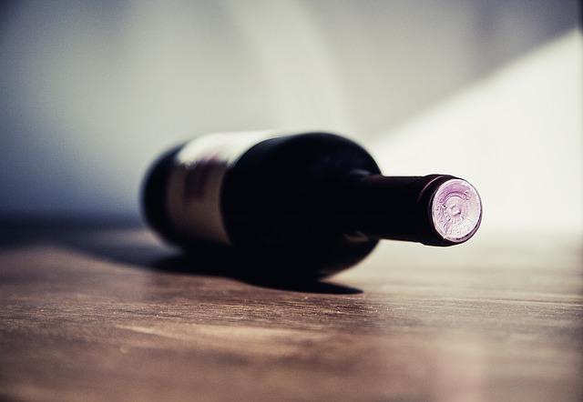 Eine Flasche Wein, Sucht
