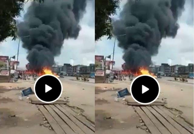 BREAKING NEWS: Ochanja Market in Onitsha Anambra on Fire (Videos)