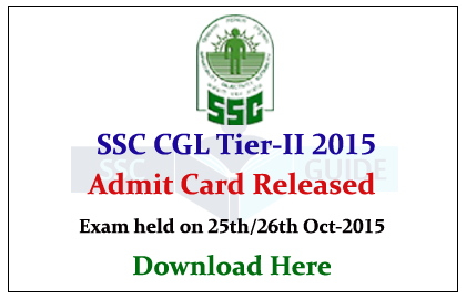 ssc cgl admit card 2015 southern region