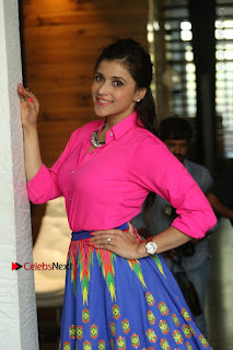 Actress Mannar Chopra in Pink Top and Blue Skirt at Rogue movie Interview  0032.JPG