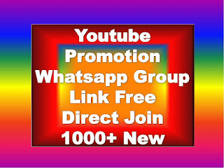 Youtube Free Promotion Whatsapp Group Link   1000+ Active Youtube Sub $ Sub Whatsapp Group Links