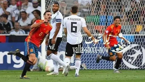 نتيجة مباراة إسبانيا وألمانيا اليوم تصفيات دوري أمم أوروبا 2021