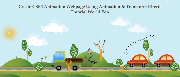 Create CSS3 Animation Webpage Using Animation And Transform