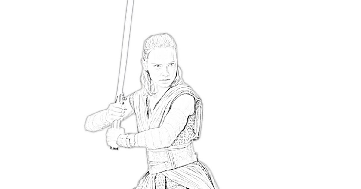 Beautiful Star Wars Rey Coloring Pages Sugar And Spice