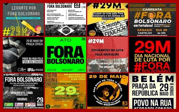 #29M: estudantes, sindicatos e até torcidas farão atos neste sábado contra Bolsonaro