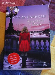 Ejemplar de Atardecer en París para la iniciativa Libros a contrarreembolso
