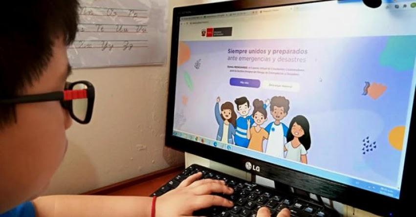 MINEDU: Estudiantes difundirán iniciativas ante emergencias y desastres en web del Ministerio de Educación