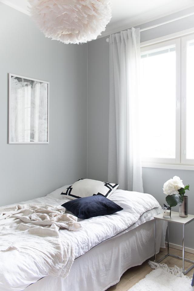 Villa H, sisustaminen, makuuhuone