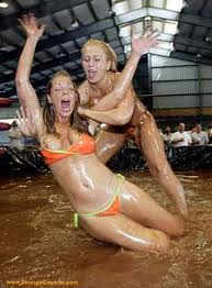 Girl jello wrestling