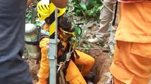 Evakuasi Nenek Erum yang Terperosok dalam Sumur Sempit Sedalam 16 Meter Diwarnai Suasana Haru