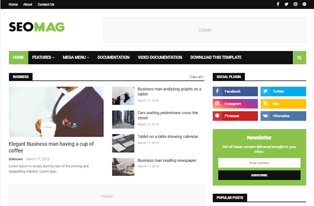 Seo mag free blogger theme download
