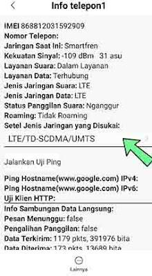 Mengaktifkan sinyal 4G android menggunakan kode Hp