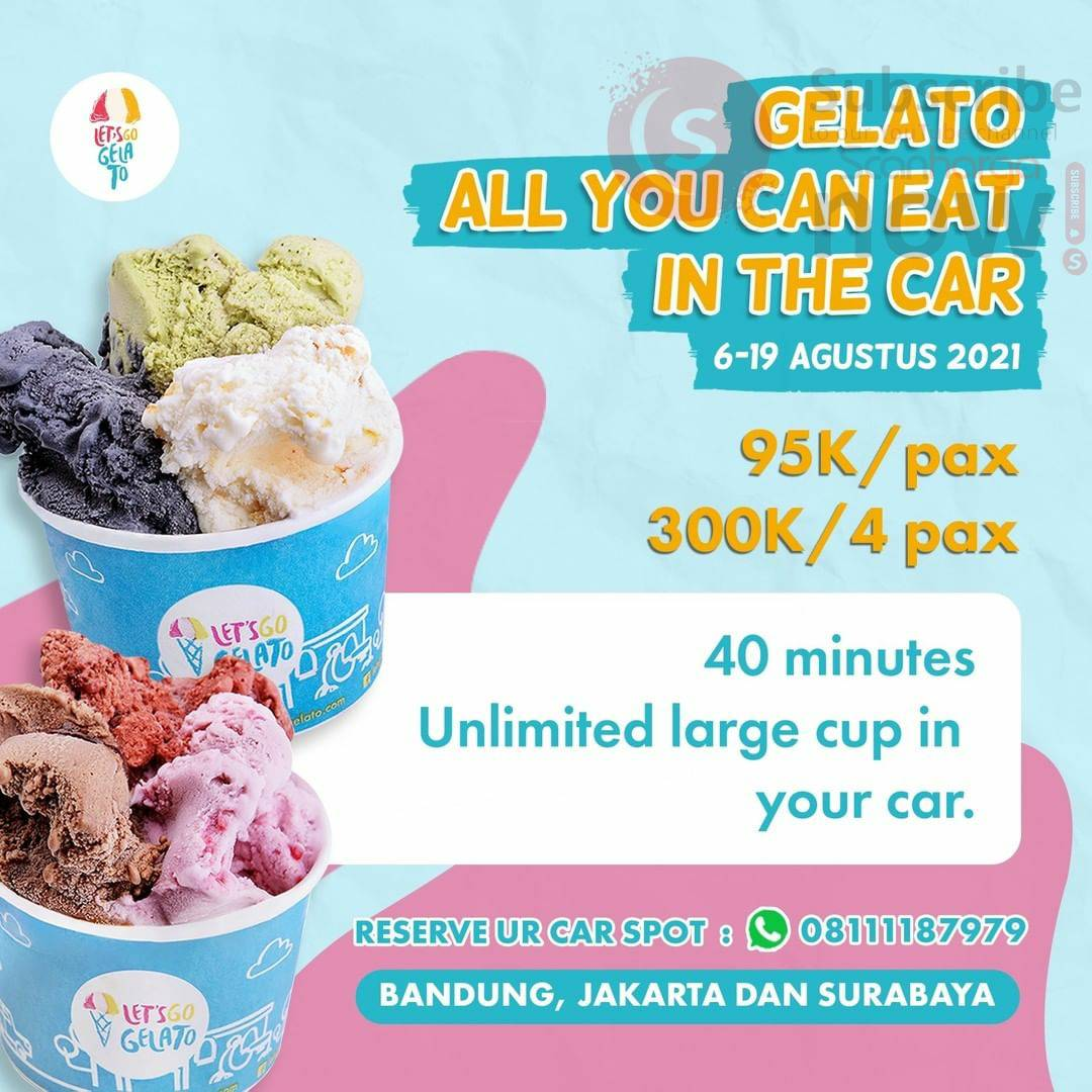 Promo Let's Go Gelato All You Can Eat In The Car  - harga mulai 95K /pax