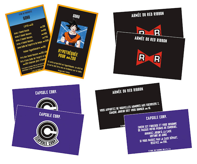 Cartes du Monopoly Dragon Ball Z