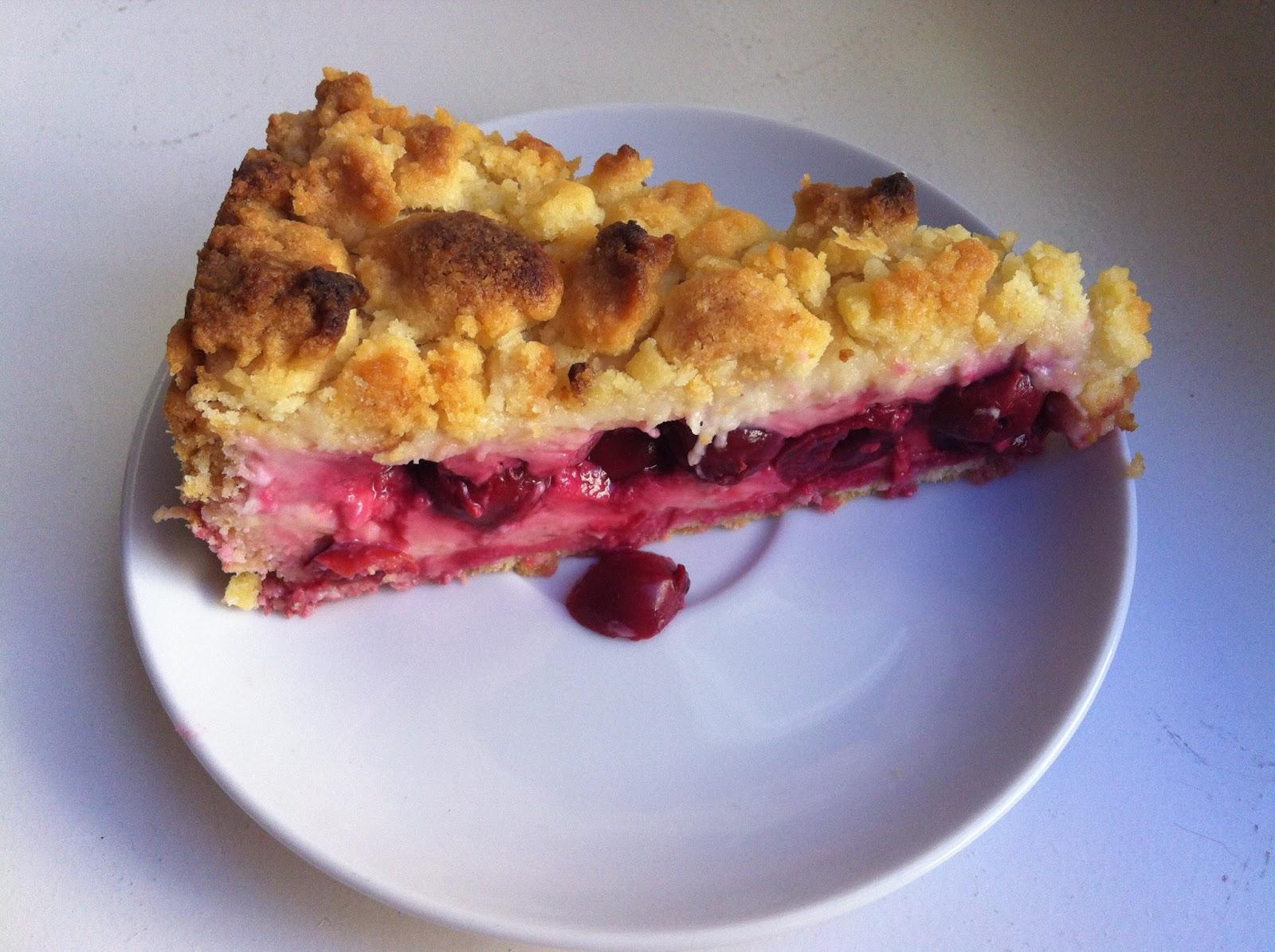 Melanies Backzauber Kirsch Streusel Mit Vanille Pudding