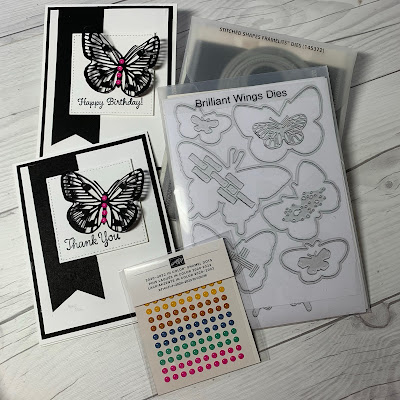 Craft product used to create butterfly greeting cards