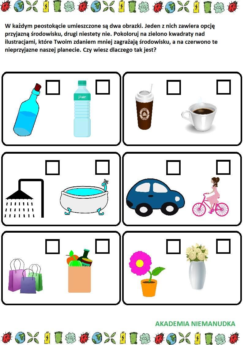 dokonaj wyboru, plastik czy szkło, auto czy rower