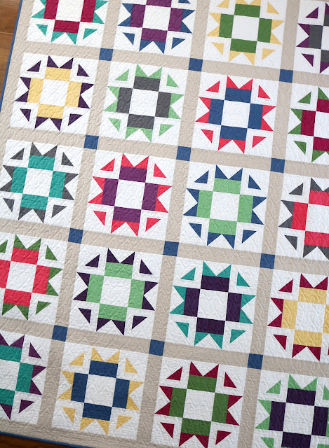 Skipper quilt pattern by Andy of A Bright Corner - a fat quarter quilt made with Confetti Cotton Solids from Riley Blake Designs