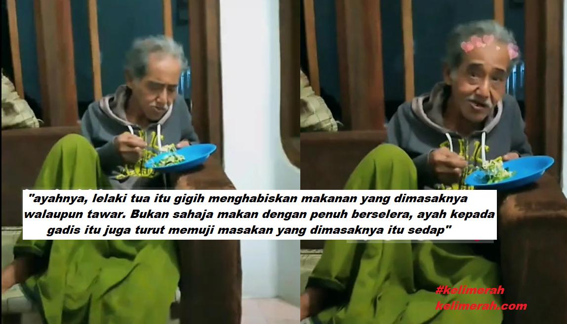"""Bapa Tetap Makan Habis Walaupun Anak Masak Tak Sedap""""Siap Puji lagi"""""""