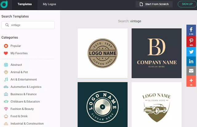 Cara membuat logo vintage secara online-1