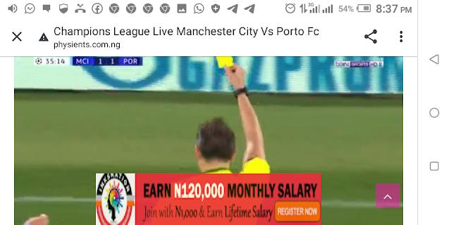 ⚽⚽⚽⚽ Champions League Manchester City Vs FC Porto ⚽⚽⚽⚽