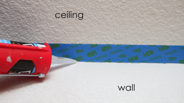 how to fix paint lines on ceiling