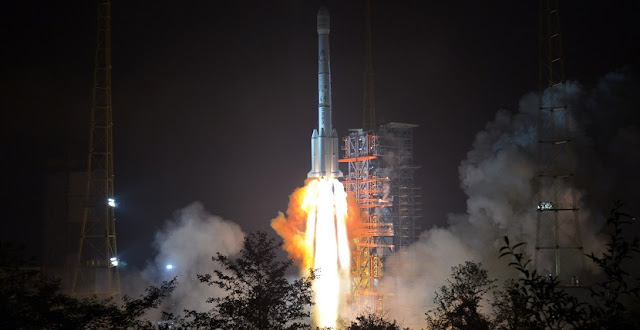 Long March 3B launches with APStar-6C communications satellite on May 3. Photo Credit: Zhang Zhengyi/Xinhua