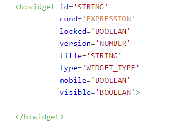 Tìm hiểu cú pháp và thuộc tính của thẻ b:widget