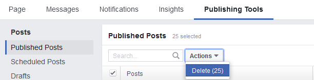 how to delete old posts on facebook at once