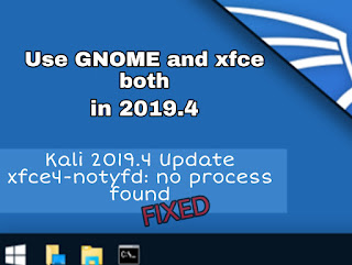 Kali Linux 2019.4 Upgrading and fixing errors