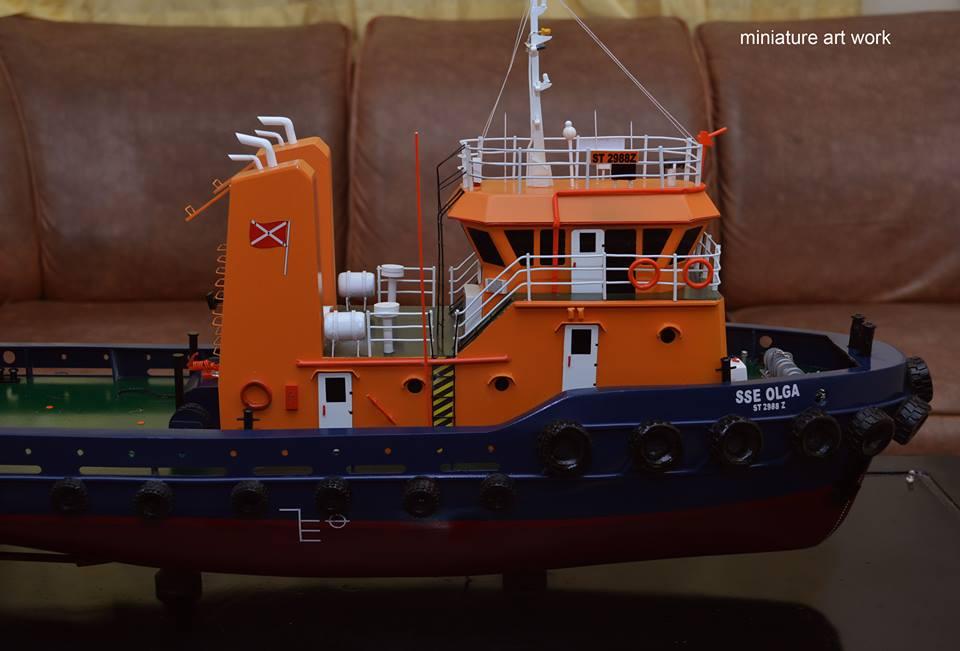 tempat jual harga murah miniatur kapal tugboat tb sse olga rumpun artwork planet kapal indonesia