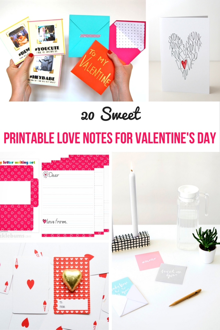 photo about Printable Love Notes called Printable Appreciate Notes for Valentines Working day - accurately my tiny mess
