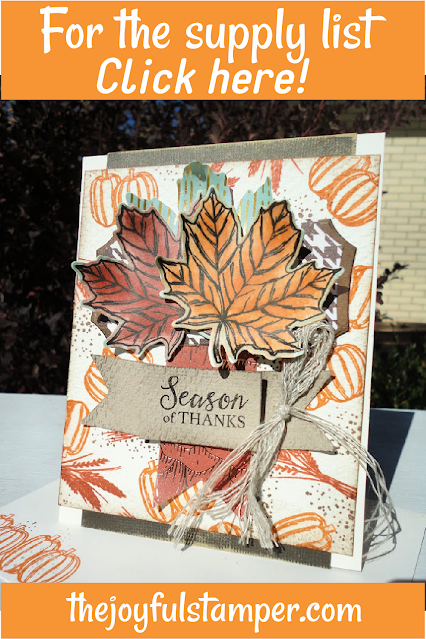 gather together, fall, alcohol ink marker techniques, embossing folder techniques, stampin' up!, thank you card, handmade cards, how to make a card, how to stamp, learn to stamp, hobbies, nicole steele, independent stampin' up! demonstrator from pittsburgh pa, the joyful stamper, free stamping tutorials, card instructions