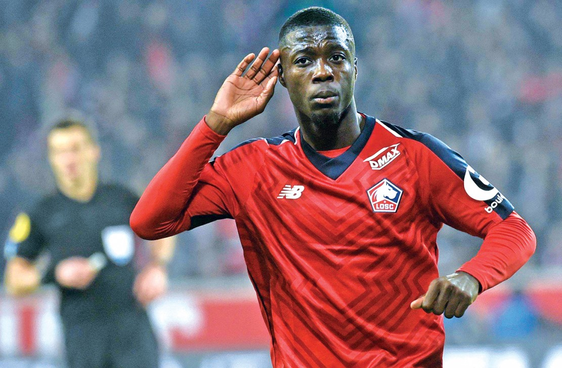 Lille's former player Nicolas Pepe who is now Arsenal's record transfer purchase