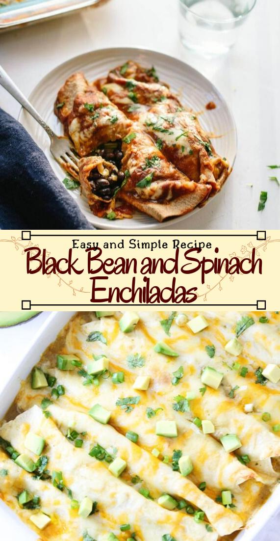 Black Bean and Spinach Enchiladas #vegan #vegetarian #soup #breakfast #lunch
