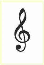 gambar clef g musik