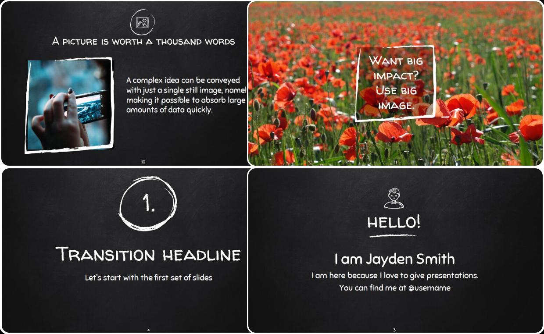 BlackBoard themed Presentation Template