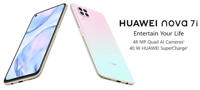 Huawei Nova 7i with Kirin 810 processor and 40W SuperCharge now official