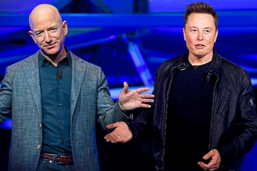 Bezos, Musk in war of words over celestial real estate