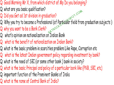 IBPS Bank Clerk IMP Interview Questions or Tips For 2013