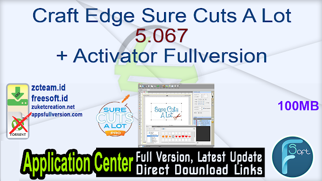 Craft Edge Sure Cuts A Lot 5.067 + Activator Fullversion