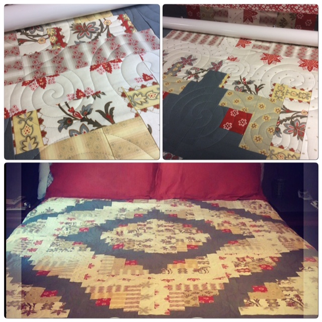 Seashore Quilting: Finished! Curved Log Cabin Quilt!