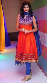 Shamili In Blue Churidar Salwar kameez At Big Bazaar (5)