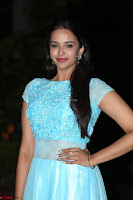 Pujita Ponnada in transparent sky blue dress at Darshakudu pre release ~  Exclusive Celebrities Galleries 073.JPG