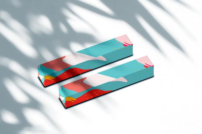 Exquisite Fashion Box Sticker Mockup